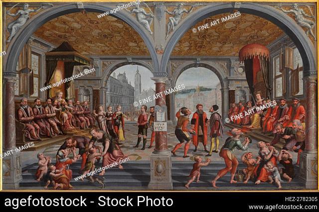 Iustitia und Iniustitia (Justice and Injustice), 1594-1595. Creator: Vredeman de Vries, Hans (Jan) (1526-1606)