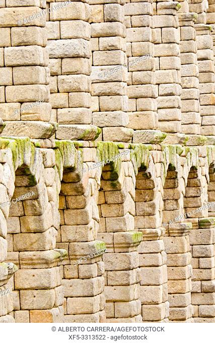 Roman Aqueduct of Segovia, 1st Century A. D. , World Monument Fund, Segovia, UNESCO World Heritage Site, Castilla y León, Spain, Europe