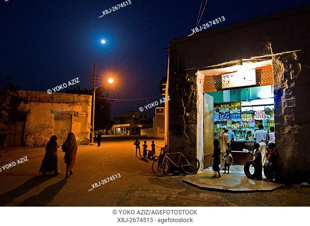 Daily life in the night, Massawa, Eritrea