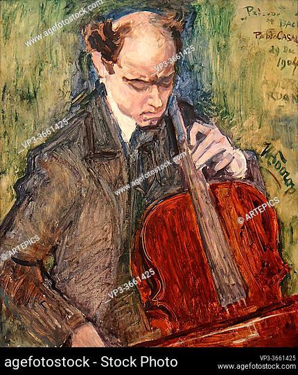 Toorop Jan - De Cellist Pablo Casals - Dutch School - 19th Century
