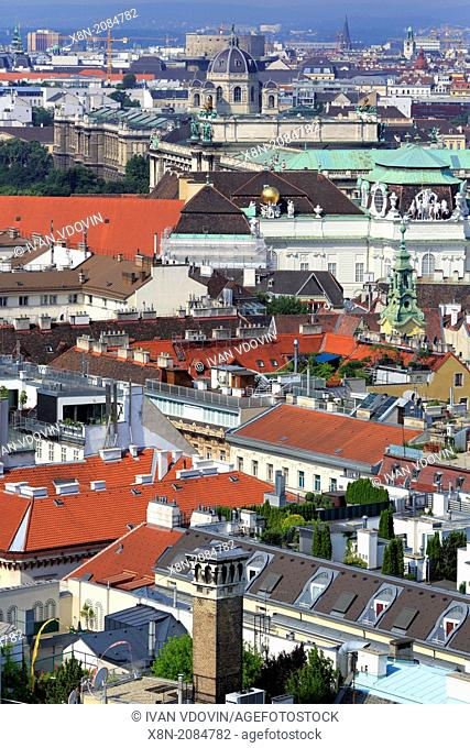 Cityscape from tower of St. Stephen's Cathedral (Stefansdom), Vienna, Austria