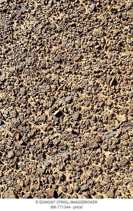 Stony surface of a reg desert, Tassili du Hoggar, Wilaya Tamanrasset, Algeria, Africa
