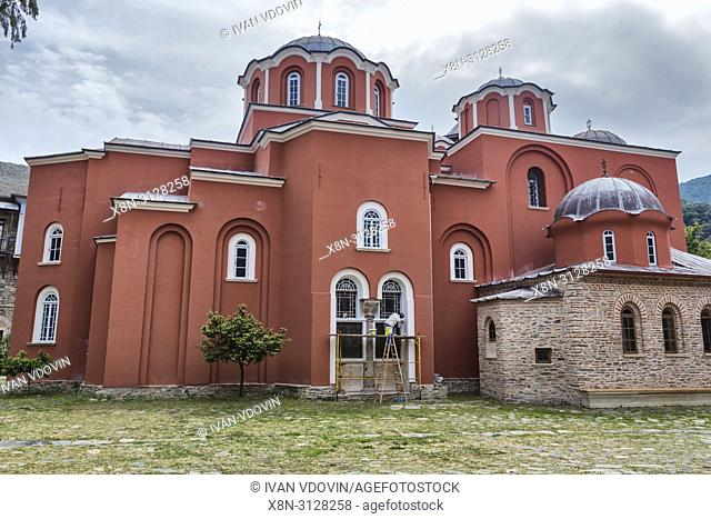 Katholikon church, Iviron monastery, Iveron, Mount Athos, Athos peninsula, Greece