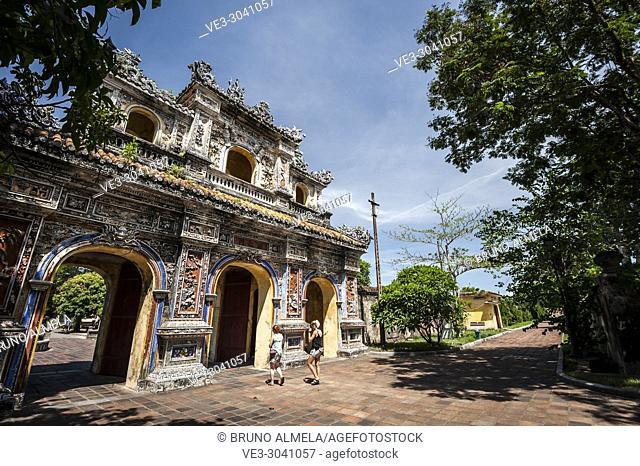Hien Nhon Gate in Hue Imperial City (Thua Thien-Hue province, Vietnam)