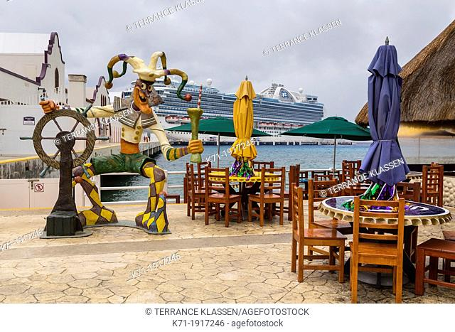 A Mexican restaurant at the cruise ship terminal Puerta Maya in Cozumel, Mexico