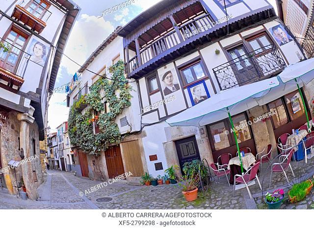 Traditional Architecture, Medieval Town, Historic Artistic Grouping, Mogarraz, Salamanca, Castilla y León, Spain, Europe