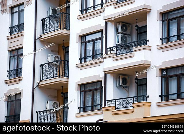 Pomorie, Bulgaria - February 07, 2020: New Construction Apartments And Housing