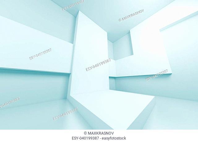 3d Abstract Futuristic Interio Concept