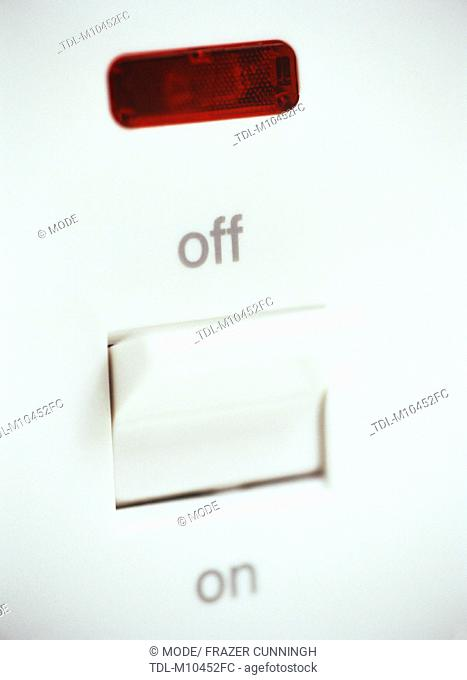 An electrical switch in OFF position
