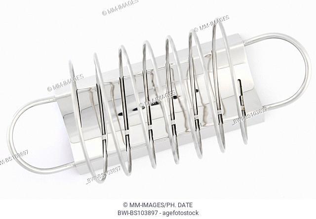spiral metal napkin holder