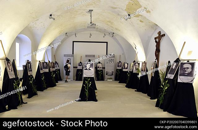 A part of an exhibition showing the patriots from the Olomouc archdiocese who perished in the Dachau concentration camp is seen within the Days of People of...