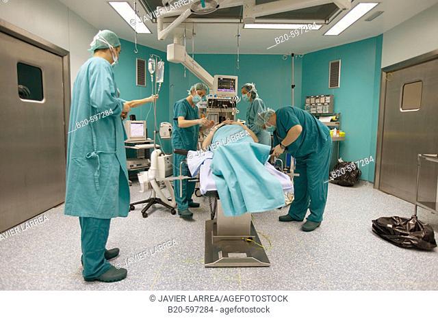 Traumatology operation room. Hospital de Zumarraga, Gipuzkoa, Euskadi, Spain