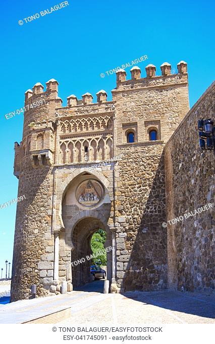 Toledo Puerta del Sol door in Castile La Mancha of Spain