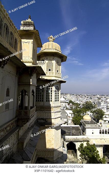 External Details, City Palace, Udaipur, Rajasthan, India