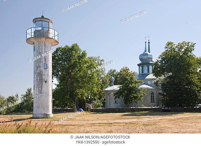 Lighthouse in Nina Village, Tartu County, Estonia, Europe