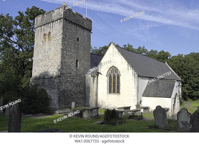 The parish church of saint Cadoc in Llancarfan in the Vale of Glamorgan, Wales UK