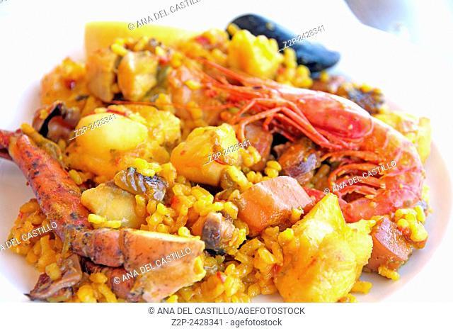 seafood paella Formentera Spain