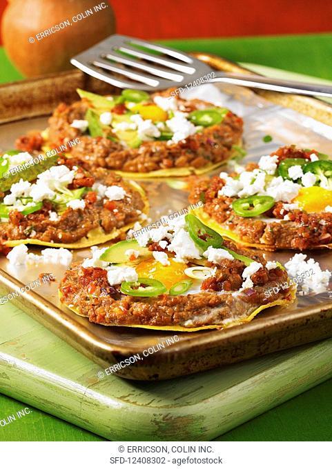 Tortillas with huevos rancheros (Mexico)