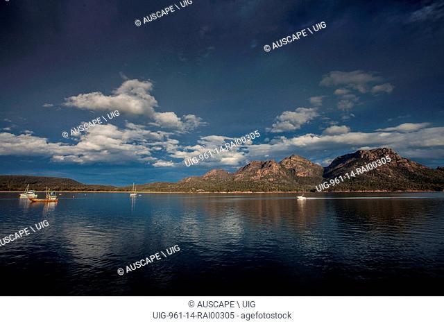The Hazards in Freycinet National Park, beyond Coles Bay, Freycinet Peninsula, Tasmania, Australia. (Photo by: Auscape/UIG)