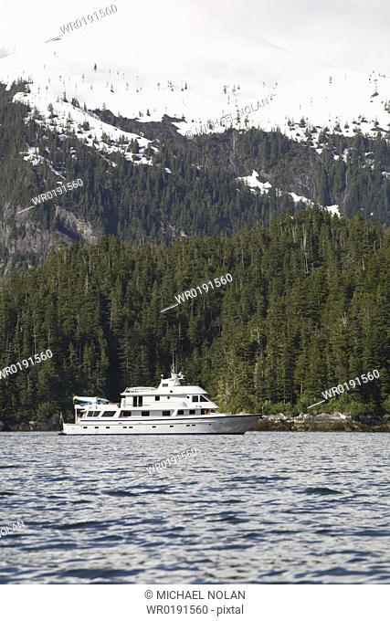 The American Safari Cruises yacht Safari Spirit operating in Southeast Alaska, USA Pacific Ocean