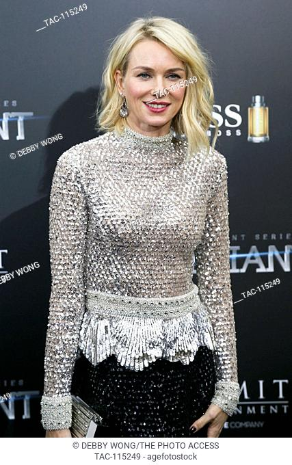 NEW YORK-MAR 14: Actress Naomi Watts attends 'The Divergent Series: Allegiant' New York premiere at AMC Loews Lincoln Square 13 Theater on March 14
