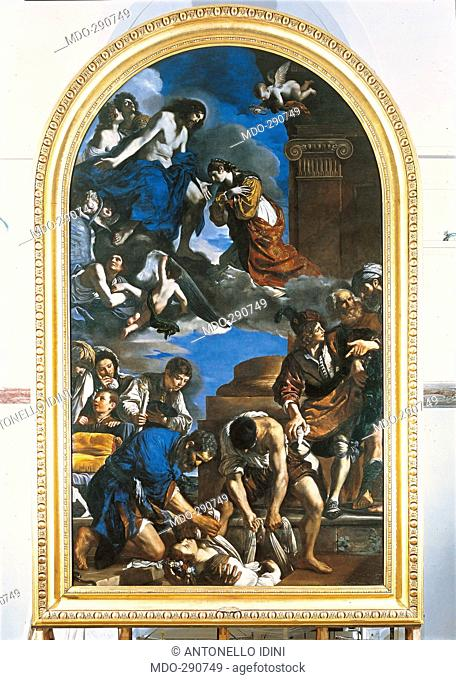 Burial and Glory of St Petronilla, by Giovan Francesco Barbieri known as il Guercino, 1622 - 1623, 17th Century, oil on canvas, cm 720 x 423