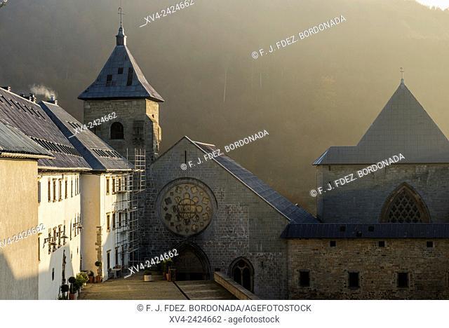 Historical buildings of Orreaga Roncesvalles, Navarre, Spain