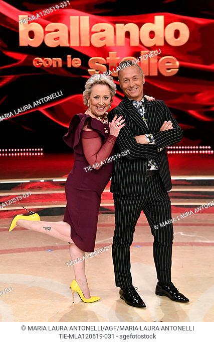 Carolyn Smith, Paolo Belli at the tv show Ballando con le setelle (Dancing with the stars) Rome, ITALY-11-05-2019