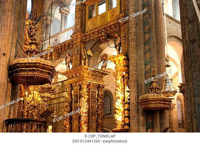interior of Cathedral - Santiago de Compostela, Spain
