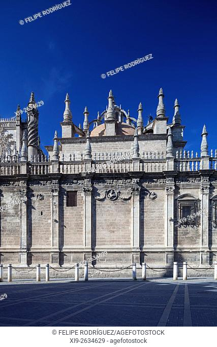 South side of Seville Cathedral, Spain