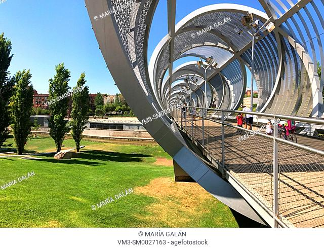 Bridge by Perrault. Madrid Rio, Madrid, Spain