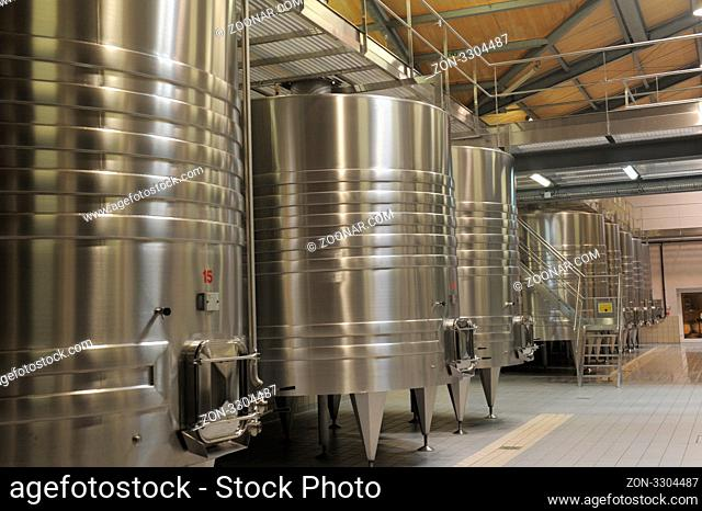 Modern Winery in a castle in Margaux, most famous wine in Gironde