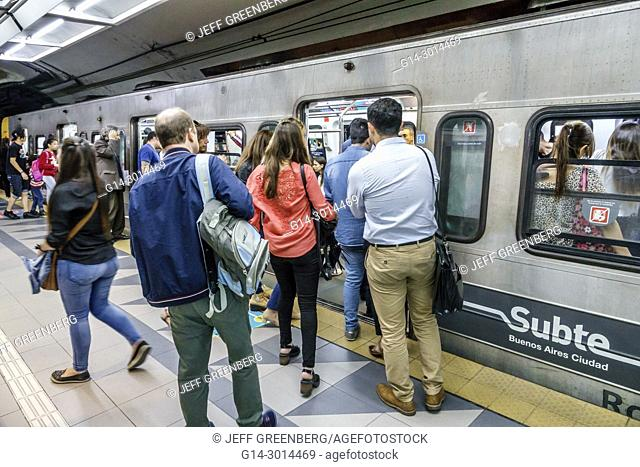 Subway Map Of Buesnos Aries Olleros Station.Buenos Aires Underground Stock Photos And Images Age Fotostock