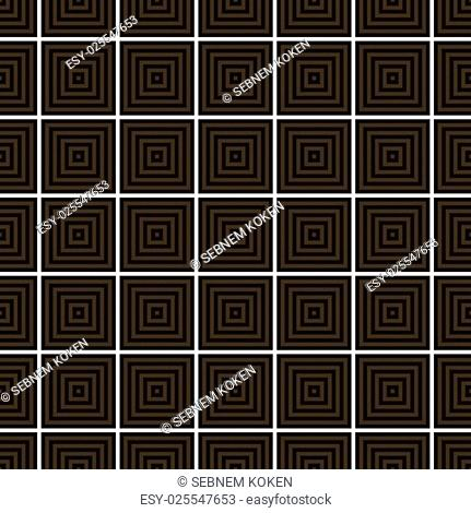 Seamless, brown, green, abstract, pattern, created, square, intersections