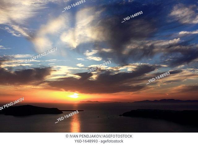 Santorini Sunset, Cyclades, Greece