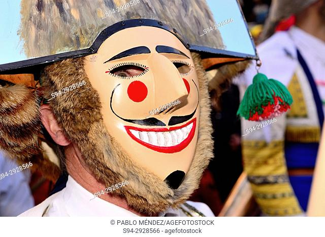 "Cigarron of Verin, mask of the Entroido """"carnival"""" in Verin, Orense, Spain"