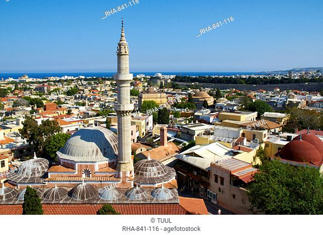 Soliman mosque in the Turkish district, City of Rhodes, UNESCO World Heritage Site, Rhodes, Dodecanese, Greek Islands, Greece, Europe