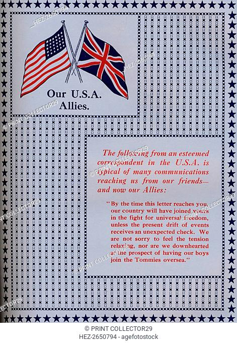 'Our U.S.A. Allies', 1917. Artist: Unknown