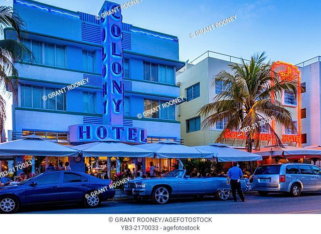 The Colony Hotel, South Beach, Miami, Florida, USA
