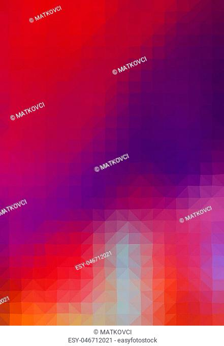 Multicolor geometric rumpled background. Low poly style gradient illustration. Graphic background