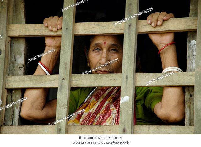 An elderly woman from Hindu community Urakandi, Gopalganj, Bangladesh April 4, 2008
