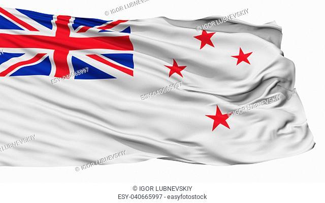 New Zealand Flag, Isolated On White Background