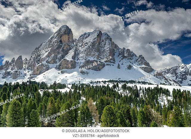 Spring Snow and Clouds in the Dolomites South Tirol Italy World Location