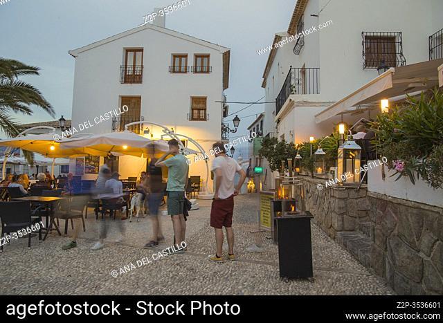 Altea village Alicante province on May 26, 2017 Spain
