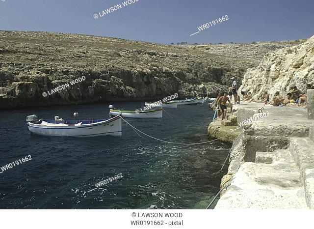 BLue Lagoon entry point, Malta, Maltese Islands, Mediterranean