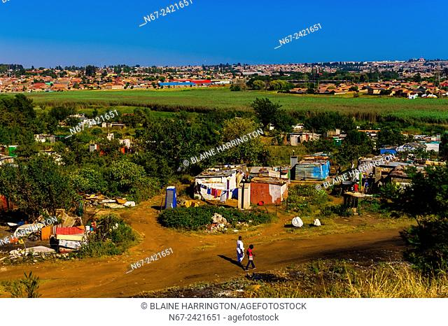 A shanty town, Soweto South Western Townships, Johannesburg, South Africa