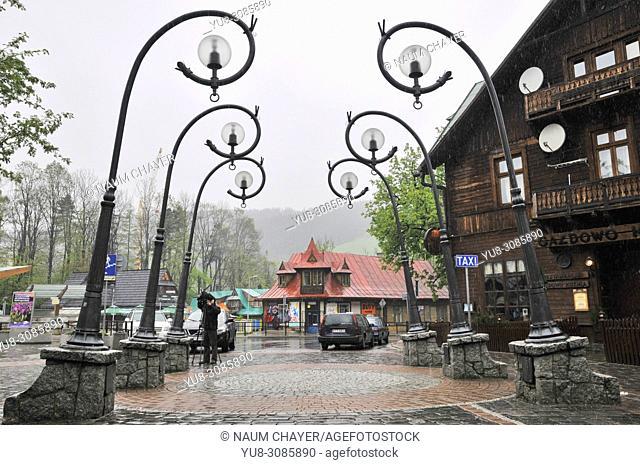 Krupowki imost representative street of Zakopane, Zakopane, Poland, East Europe