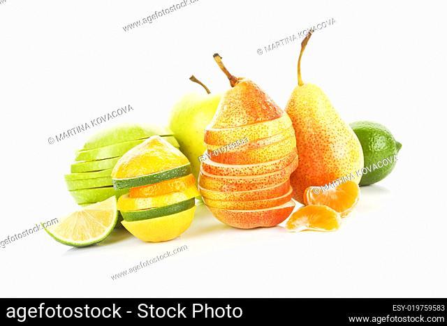 Delicious fresh fruit background