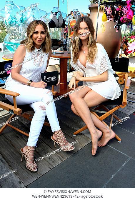 Victoria's Secret Swim launch with Behati Prinsloo Featuring: Diana Madison, Behati Prinsloo Where: Beverly Hills, California