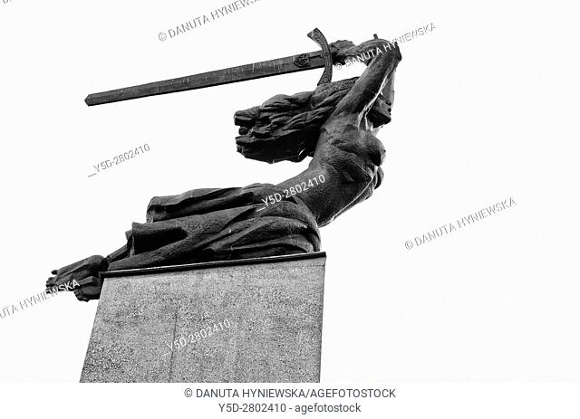 Monument to the Heroes of Warsaw, also known as the Warsaw Nike, commemorates all those who died in the city from 1939 to 1945